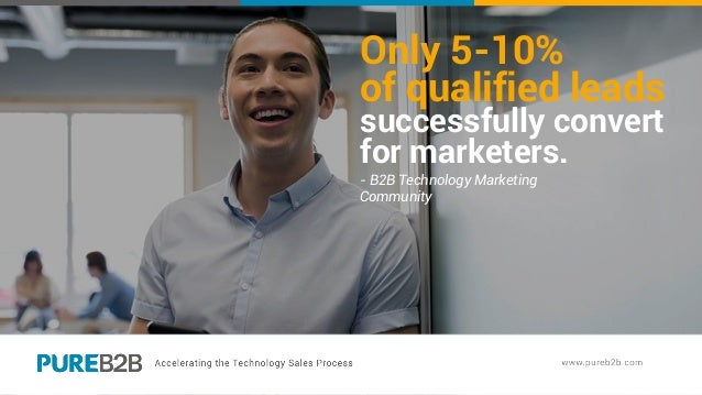 Only 5-10% of qualified leads successfully convert for marketers. - B2B Technology Marketing Community