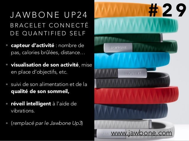 J A W B O N E U P 2 4 • capteur d'activité : nombre de pas, calories brûlées, distance… • visualisation de son activité, m...