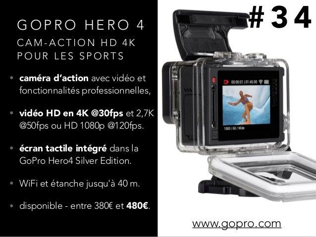 G O P R O H E R O 4 • caméra d'action avec vidéo et fonctionnalités professionnelles, • vidéo HD en 4K @30fps et 2,7K @50f...