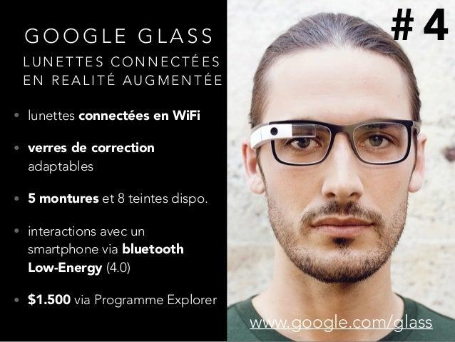 G O O G L E G L A S S • lunettes connectées en WiFi • verres de correction adaptables • 5 montures et 8 teintes dispo. • i...