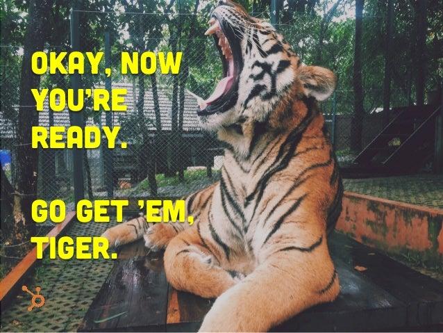 Okay, Now you're ready. Go get 'em, tiger.