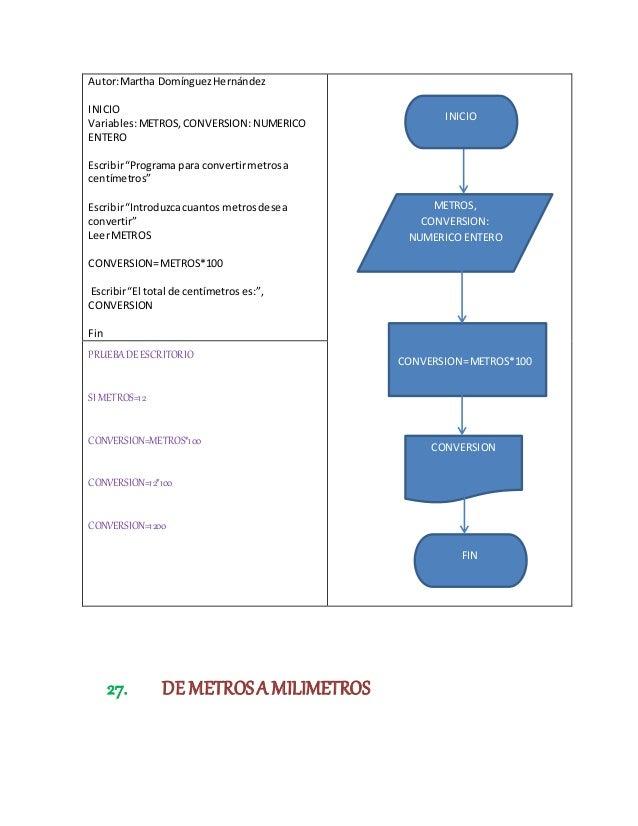 50 Programas Con Pseudocódigo Y Diagramas De Flujo