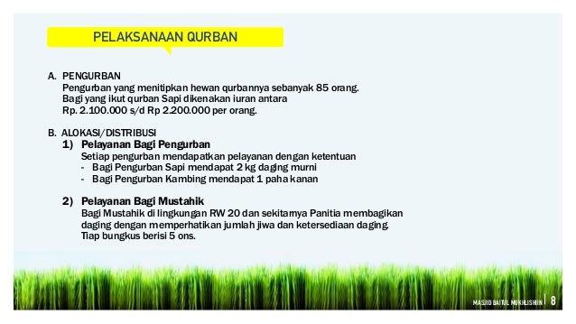 Laporan Kegiatan Idul Adha1435 H Masjid Baitul Mukhlishiin