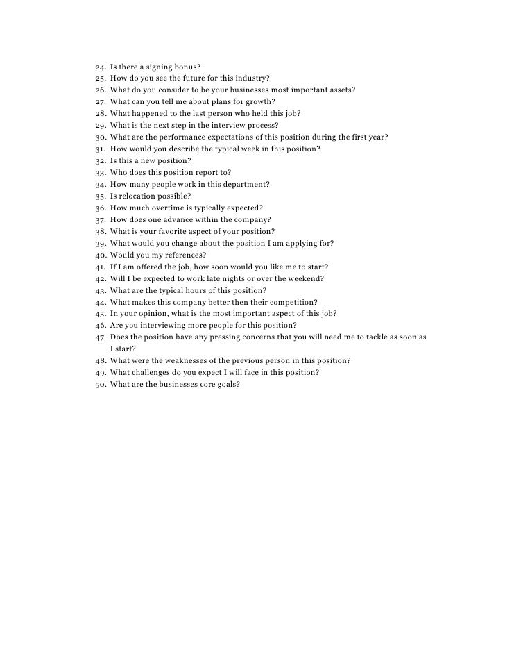 50 questions to ask during an interview