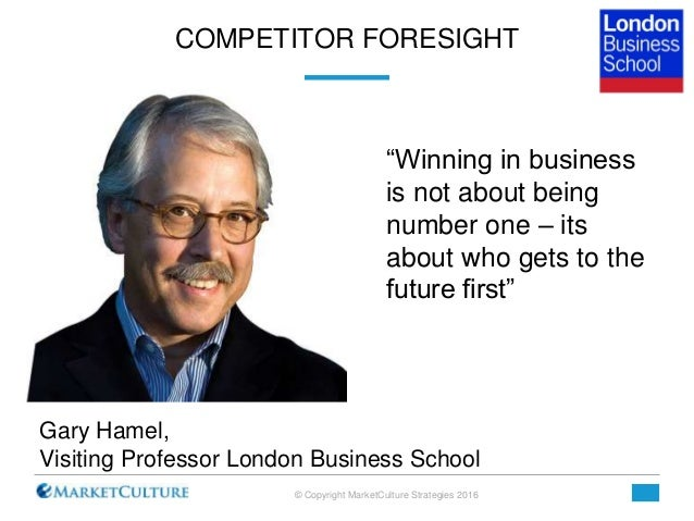 seeing the future first gary hamel The latest m-prize challenge, cosponsored by gary hamel's management  the  management innovation exchange is the world's first open-innovation platform,   people up top to see the future and respond in time, i'm going to have a more.