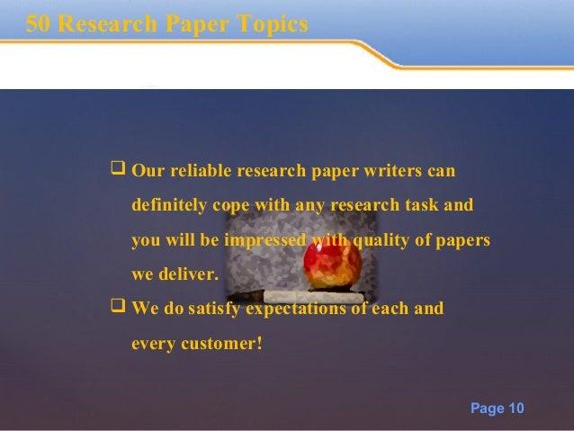 50 essay topics