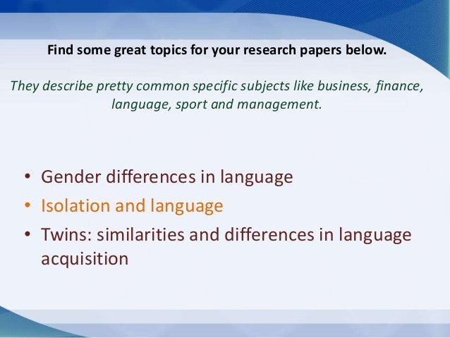 language and gender research topics