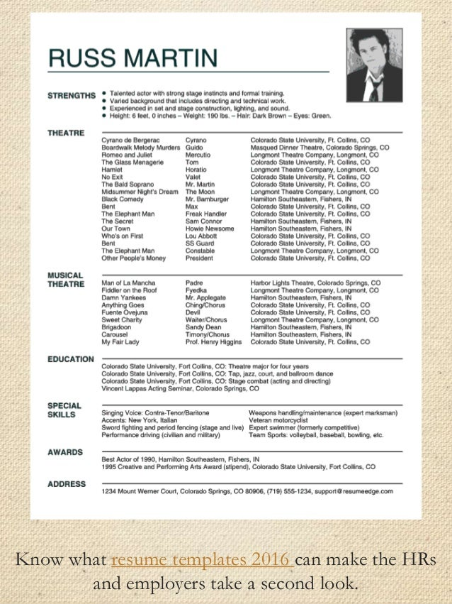 2016 resume examples
