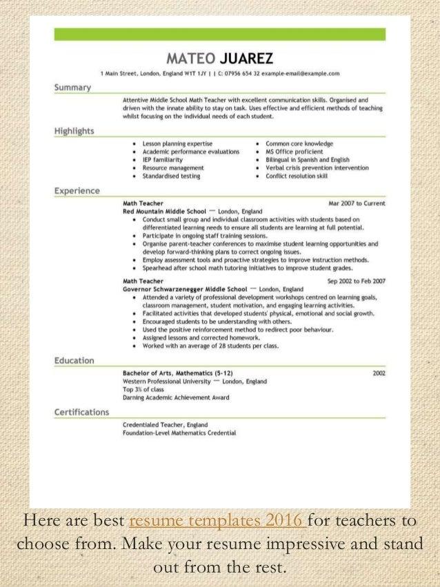 preferred resume format 2016 professional resume templates