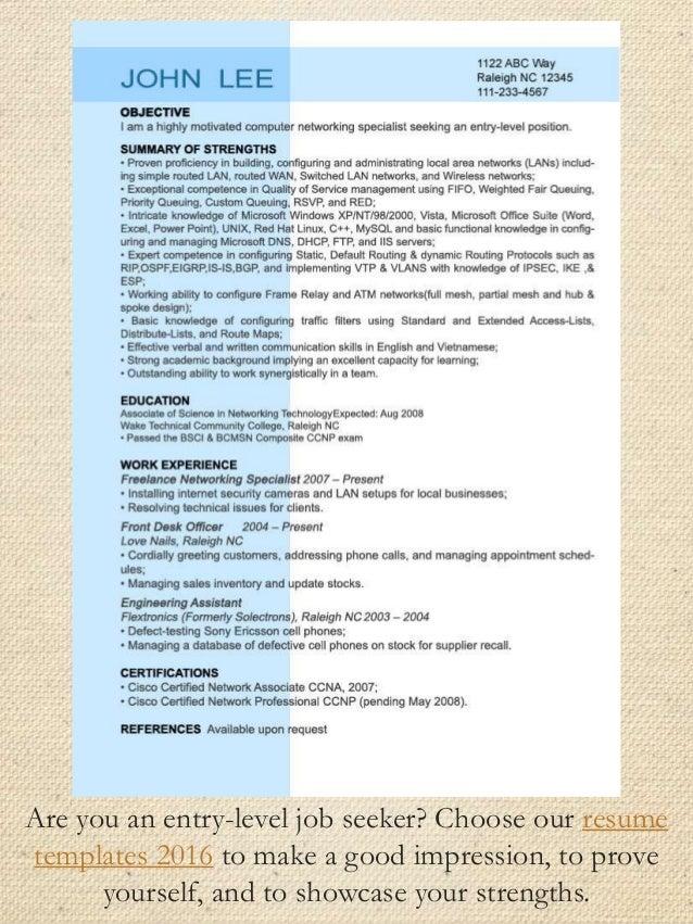 inexperienced resume examples