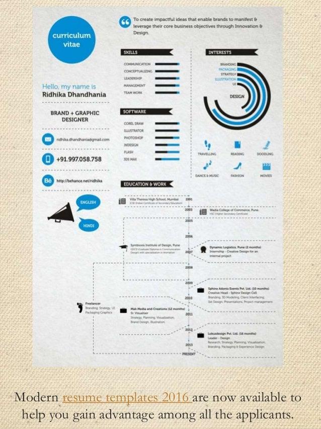 Modern Resume ...  Modern Resume Samples