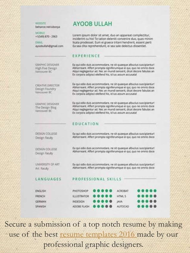 top notch resumes