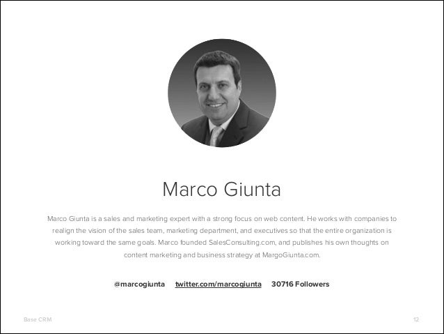 Marco Giunta Marco Giunta is a sales and marketing expert with a strong focus on web content. He works with companies to r...