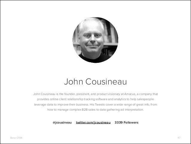 John Cousineau John Cousineau is the founder, president, and product visionary at Amacus, a company that provides online c...