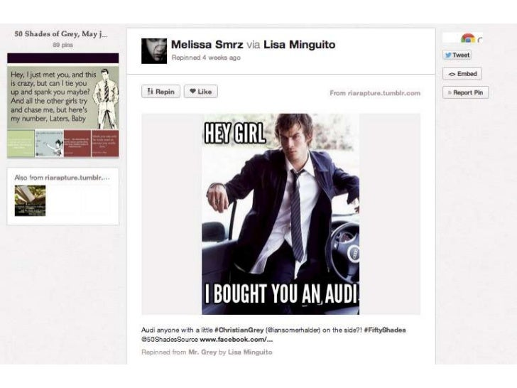 50 Shades on Pinterest
