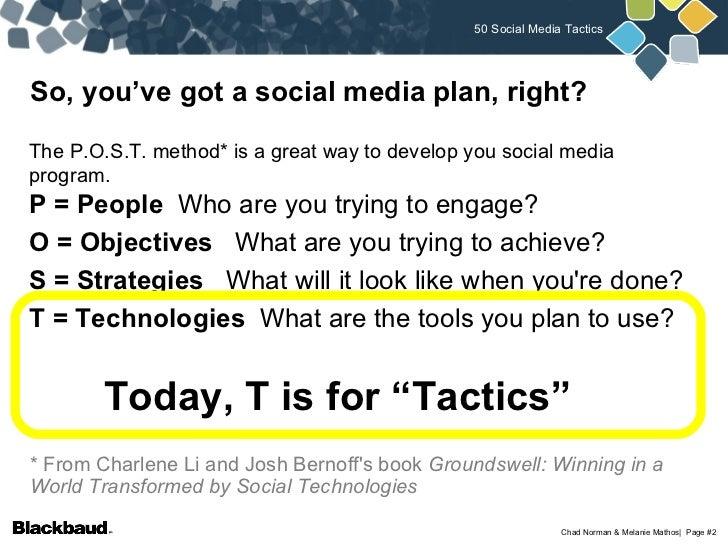 50 Social Media Tactics for Nonprofits Slide 2