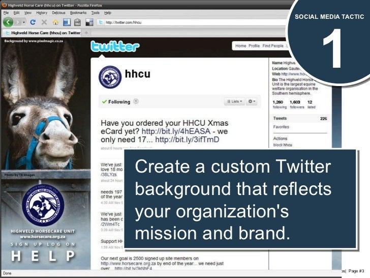 50 Social Media Tactics for Nonprofits Slide 3