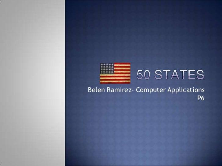 Belen Ramirez- Computer Applications                                  P6