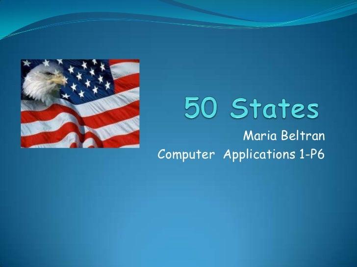 Maria BeltranComputer Applications 1-P6