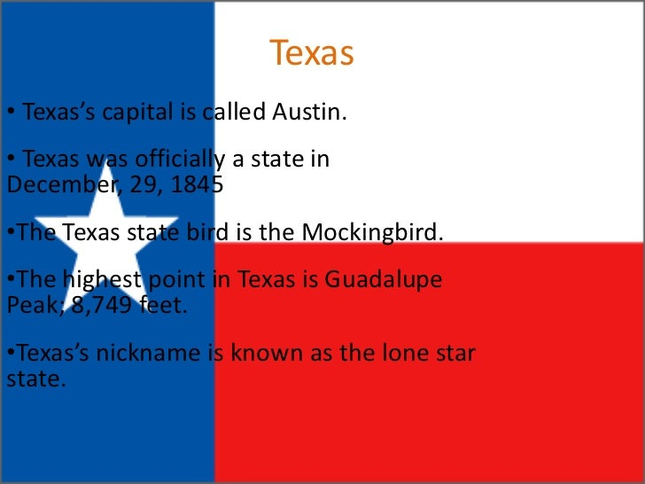 States Seth Soper - Why is texas called the lone star state