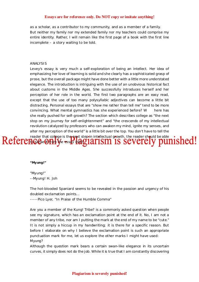 harvard university application essay question