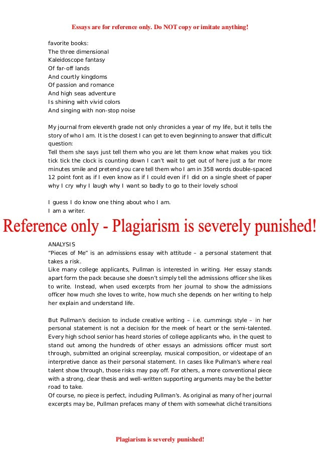 how to write an essay about yourself example