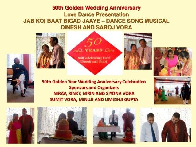 Th golden wedding anniversary dance dinesh vora
