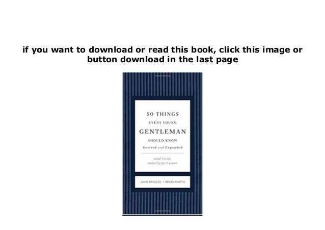 50 things every young gentleman should know pdf free