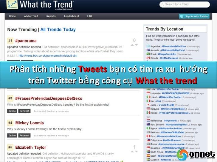 Sử dụ ng công cụ CoTweethoặ c Hootsuite để quả n lí  việ c Tweet củ a công ty