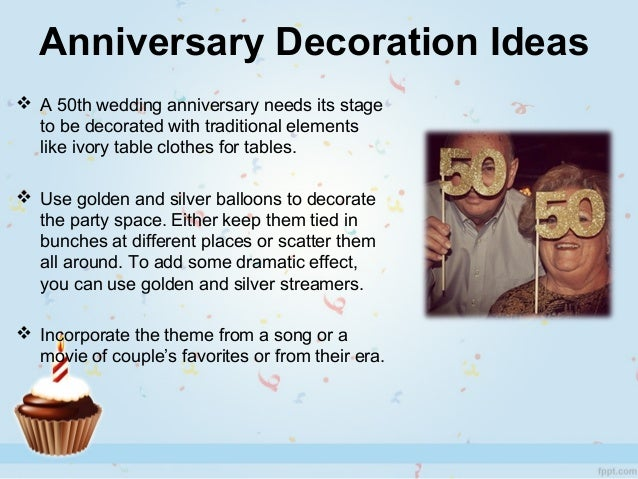 25th Wedding Anniversary Party Ideas For Parents In India : anniversary decoration ideas a 50th wedding anniversary needs its ...