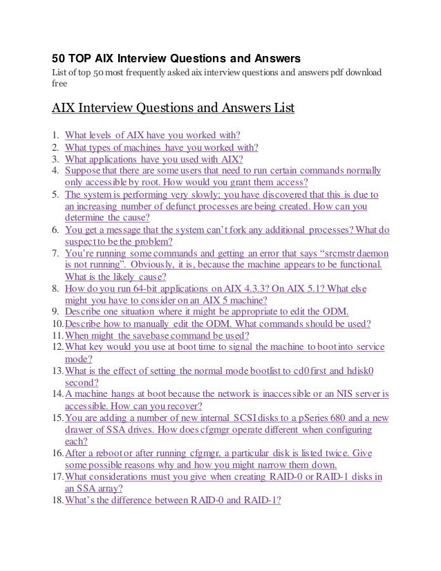 aix interview questions and answers pdf free download