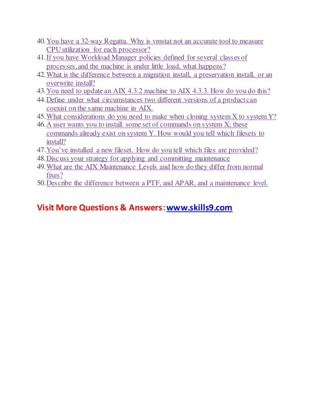 aix interview questions and answers pdf