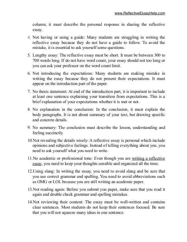 mistake reflective essay format image 3