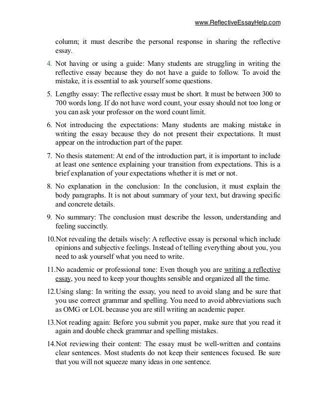 mistake reflective essay format image 3 - Reflective Essay Format