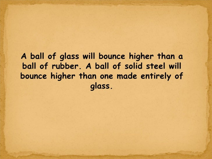 Image result for ball of glass bounce
