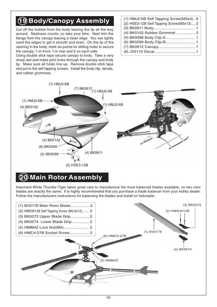 manual raptor 50 v2