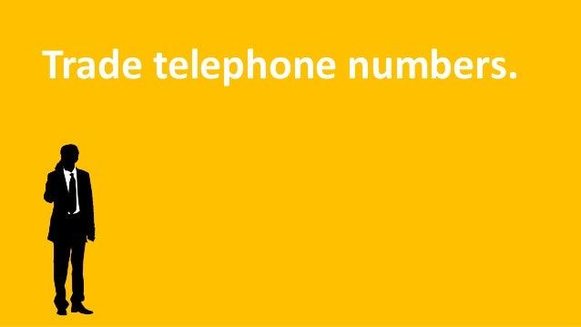 Trade telephone numbers.