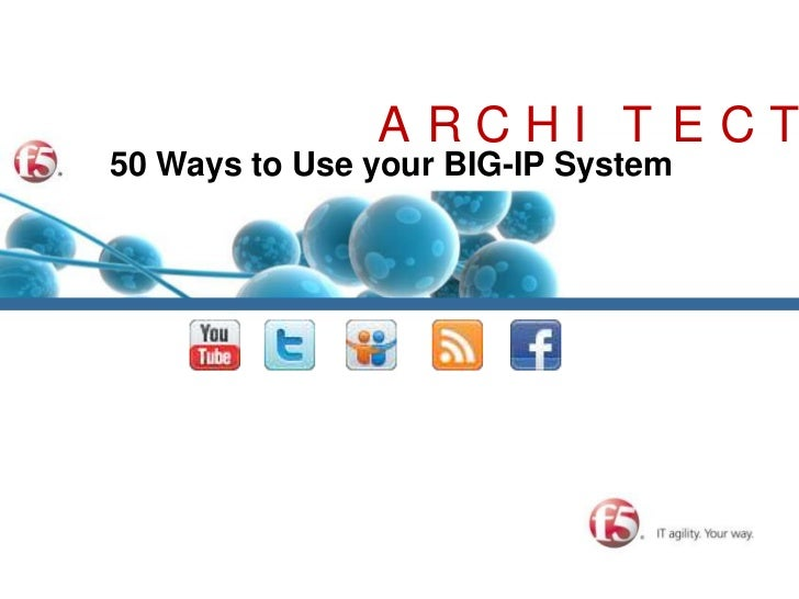 ARCHITECTURE<br />50 Ways to Use your BIG-IP System<br />