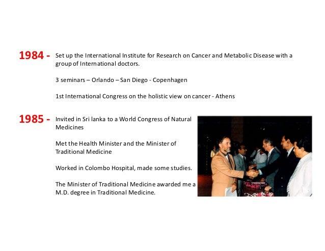 50 Year Career in Naturopathic Medicine Presentation