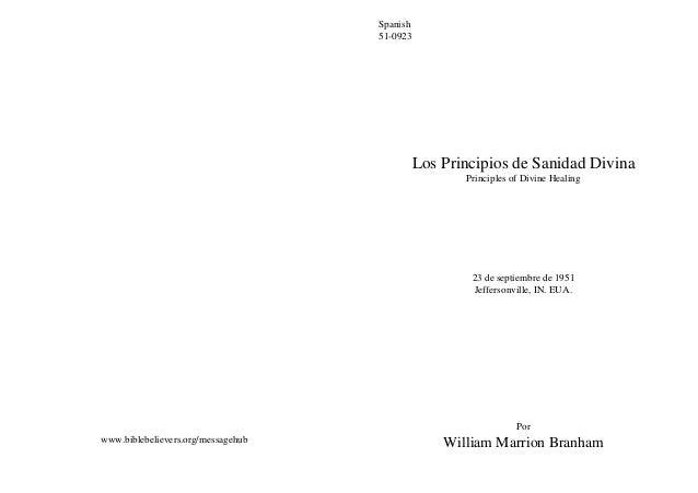 Spanish                                    51-0923                                          Los Principios de Sanidad Divi...