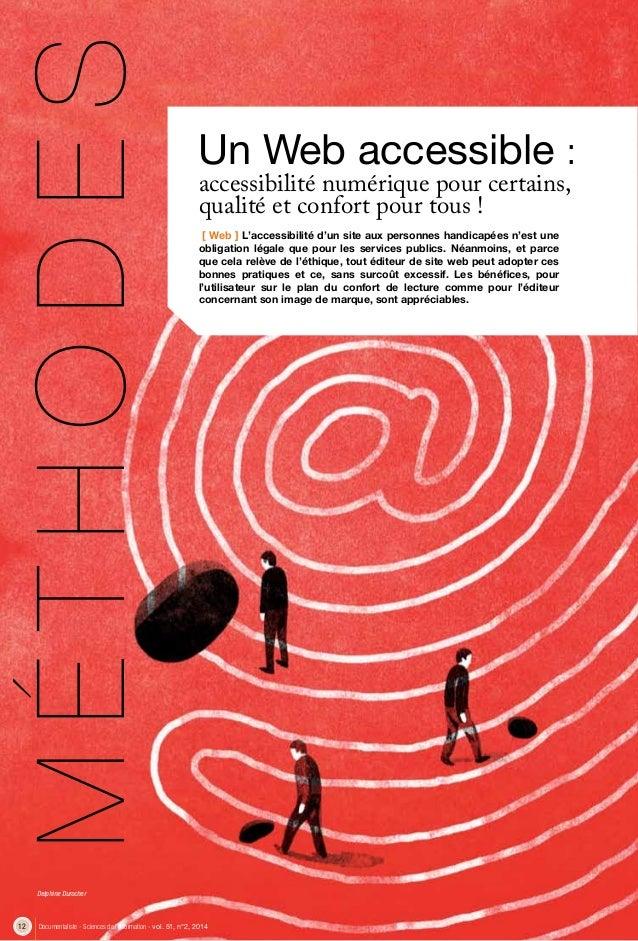 12 Documentaliste - Sciences de l'information - vol. 51, n°2, 2014 [ Web ] L'accessibilité d'un site aux personnes handica...