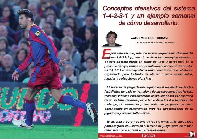 JULIOTáctica© Artículo publicado en www.futbol-tactico.com 73 E Autor: MICHELE TOSSANI • Colaborador de Futbol-Tactico en ...