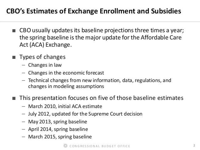 Forecasting Enrollment and Subsidies in the ACA Exchanges Slide 3