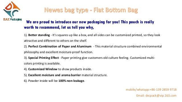 We are proud to introduce our new packaging for you! This pouch is really worth to recommend, let us tell you why, 1). Bet...