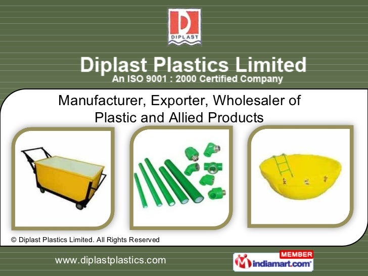 Manufacturer, Exporter, Wholesaler of Plastic and Allied Products