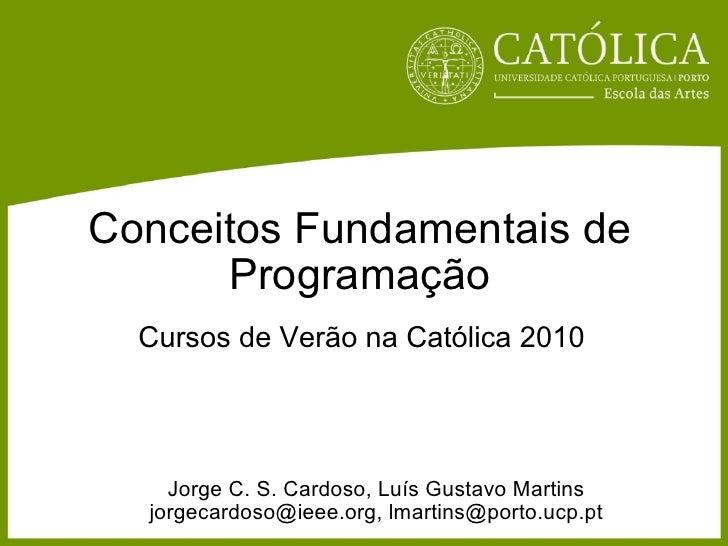 Conceitos Fundamentais de Programacao