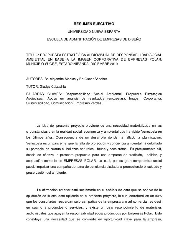 51135402 resumen ejecutivo proyecto tesis empresas polar