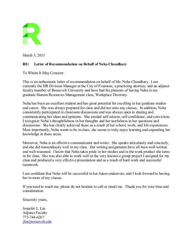 Roosevelt University Email >> Nchoudhary Rec 1