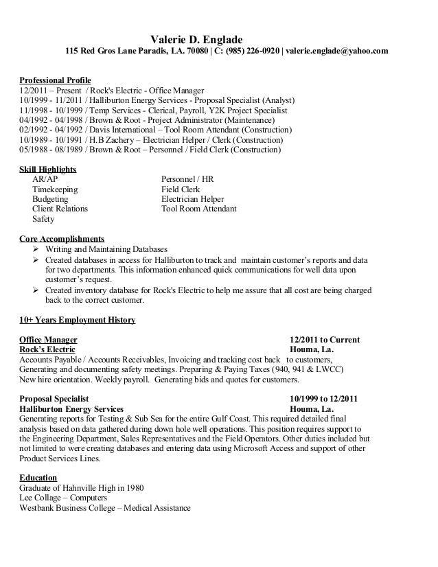 Toolroom Clerk Sample Resume] Write The Perfect Resume How ...