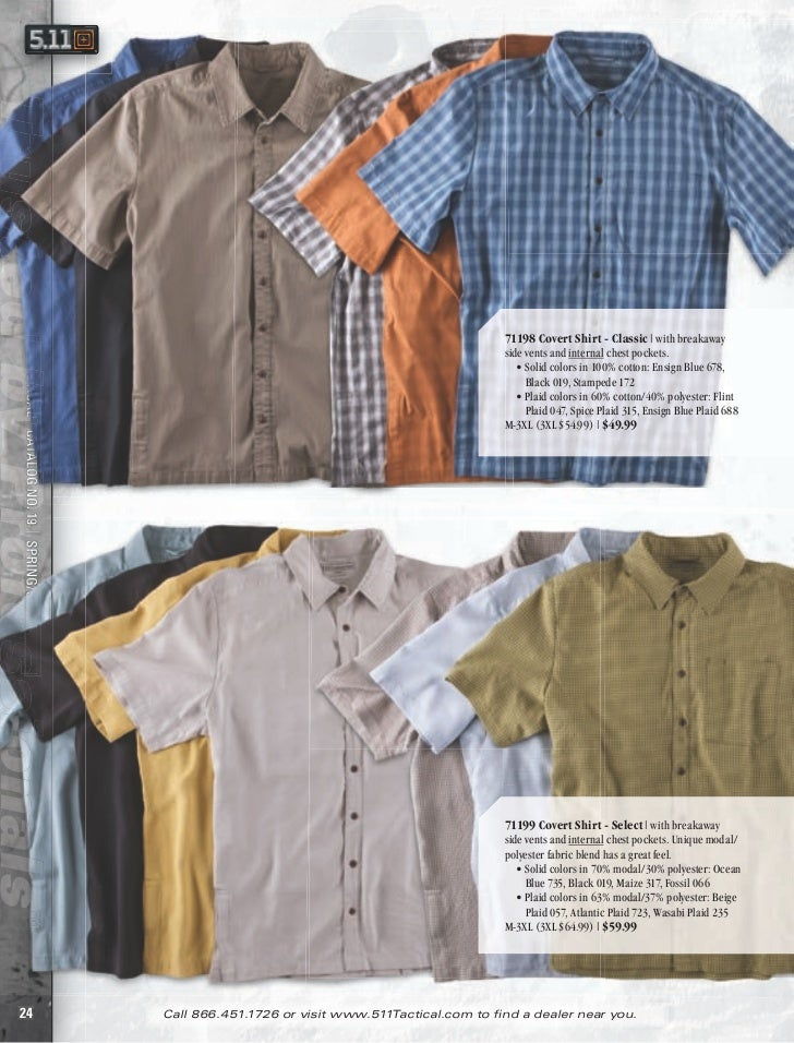 71198 Covert Shirt - Classic   with breakaway5.11 TACTICAL® CATALOG NO. 19   SPRING/SUMMER 2012                           ...